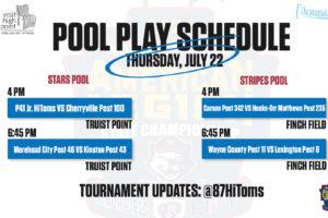 Thursday's Jr. Legion State Tournament Schedule