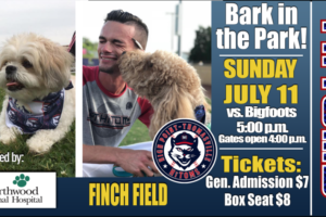 Tonight is Bark in the Park at Finch Field!