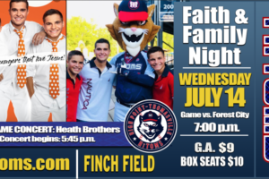 Tonight is Faith and Family Night with the 3 Heath Brothers!